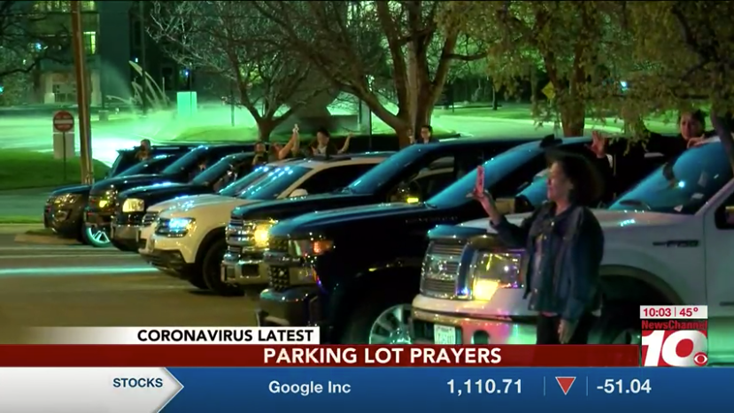 Channel 10 News coverage of parking lot prayers