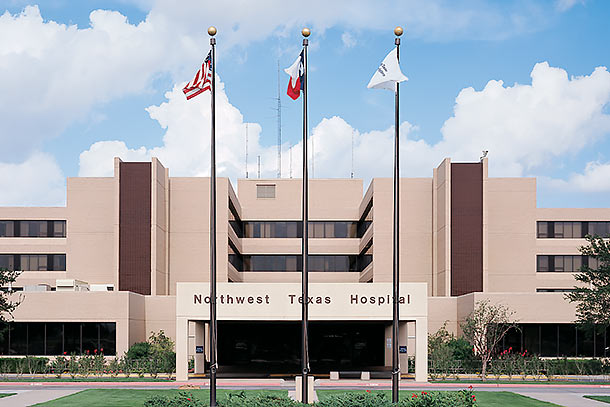 Photo of exterior shot of North West Texas Hospital